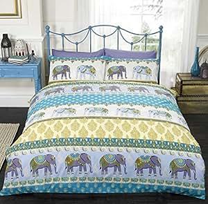 Style indien housse de couette pour lit double motif - Housse de couette style industriel ...