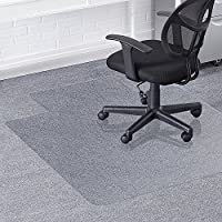Silla alfombrilla para suelos duros, greenmall 90x 120cm (3'x 4') estructura de silla de oficina PVC alfombrilla para protección de suelo duro, resistente y resistente a los arañazos
