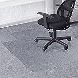Greenmall - Alfombrilla para silla de oficina (90 x 120 cm, PVC, para protección de suelos duros, estructura duradera y resistente a los arañazos)