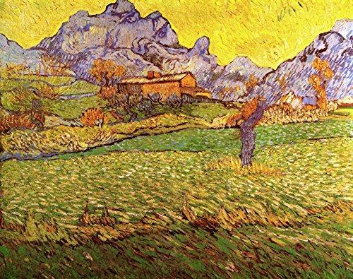 Die Museum Outlet-A Meadow In The Mountains Le Mas De Saint-Paul, gespannte Leinwand Galerie verpackt. 29,7x 41,9cm