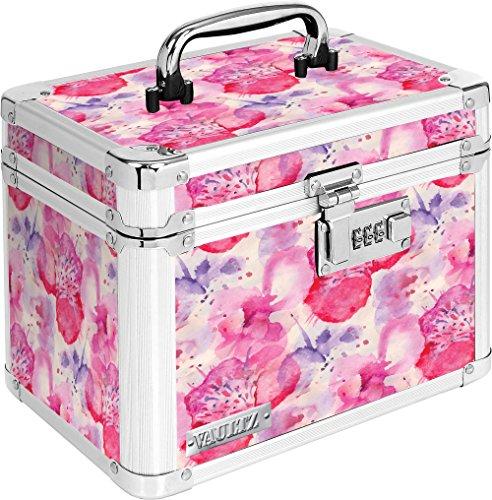 Vaultz vz03807Sperren Persönlichen Aufbewahrungsbox mit Zahlenschloss und Tragegriff, Muster, 25,4x 19,1x 17,8cm, weiß und grau (Metall-lagerung-lock-box)