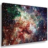 Galaxie Weltraum Leinwandbild LaraArt Bilder Mehrfarbig Wandbild 100 x 70 cm