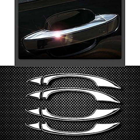 Eaglerich ABS Chrome Porta Bowl per A-UDI / A4L / Q3 Q5 / A6L / A5 prima del 2013 modifica Dedicato Porta Dowl Protezione Sticks copertura decorazione