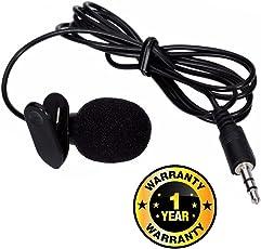 Rhobos Professional Mini Lavalier Lapel Microphone 3.5mm Omni Directional Condenser Clip Lav Mic