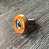 Kurbelschrauben farbig mit Alukappe Vierkant Innenlager MTB/Road Tuning Caps Axle Bolts (Kupfer)