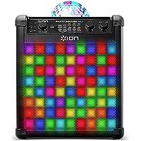 ION Audio Party Rocker Max - Kabelloser Lautsprecher mit LED und Mikrofon, Eingebauter Akku für stundenlangen Betrieb - LED leuchtet zur Musik - optimal für Karaoke