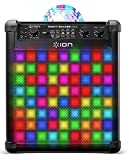 ION Audio Party Rocker Max – Enceinte Bluetooth 100 W et Station Karaoké avec Batterie Rechargeable Intégrée, Dôme Lumineux, Grille de Lumières LED et Microphone