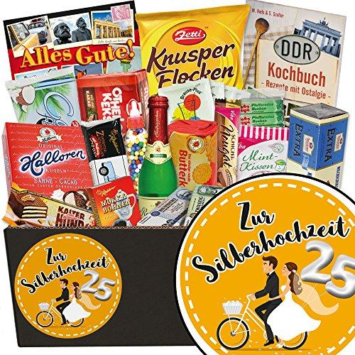 Zur Silberhochzeit ❤️ Süssigkeiten Geschenkbox ❤️ Geschenk Set ❤️ Zur Silberhochzeit ❤️ Geschenk zur silbernen Hochzeit ❤️ inkl. DDR Kochbuch