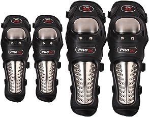 Vheelocityin Stainless Steel Racing Knee/shin and Elbow Guard - Set of 4