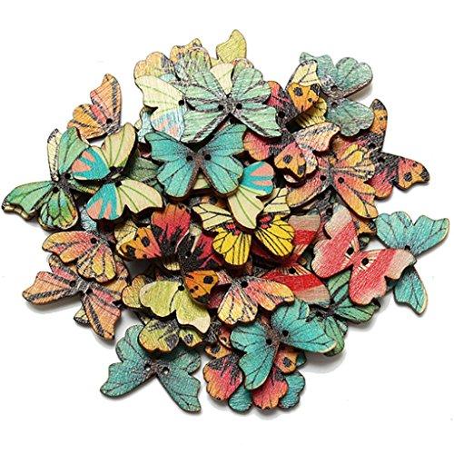 qhgstore-50pcs-2-fori-farfalla-tasto-di-legno-misto-di-cucito-scrapbooking-del-mestiere-di-diy