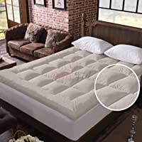Relaxfeel 600 GSM Microfiber 5 Star Cotton Small Bed Soft Waterproof Quilted Mattress Topper / Padding for Comfortable…