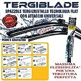 AREARICAMBI 810.650.550 Coppia Spazzole Tergicristallo Anteriore