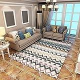 Ailin Home Tappeto Antiscivolo Per Moquette Con Motivo Geometrico per Comodino Camera Da Letto (dimensioni : 180*280cm)