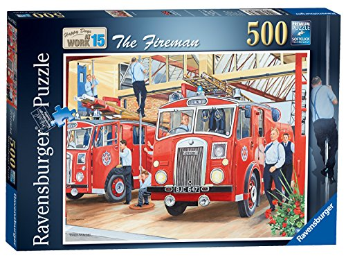 Ravensburger Happy Days at Work Nº 15 - Puzzle de 500 Piezas, diseño de Bombero