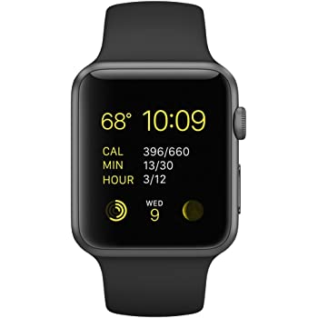 Apple 42mm Smart Watch - Space Grey Aluminum Case/Black Band