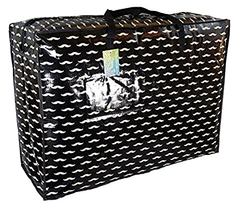 Super grand sac de rangement de 115 litres. Moustaches noires motif. Toy sac, le lavage et le sac à linge