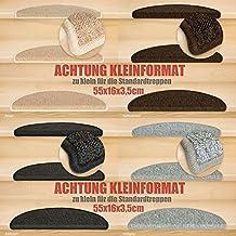 Kettelservice-Metzker® Stufenmatten Kleinformat für Raumspartreppen/Wendeltreppen 55x16x3,5cm inkl. Fleckentferner, Anthrazit 14 Stück