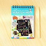 Zantec Scrawl libro materiale scolastico con Scratch Pen in legno,Lavagnette,Accessori per disegnare e colorare