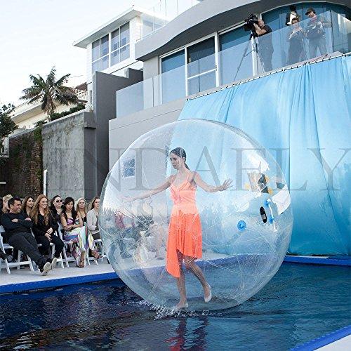 kidsfly Dia. 2 m (200,7 cm) Kinder bubbdy Erwachsene Walking Ball/Wasser PVC aufblasbar TIZIP-Walk Ball Wasser Spiel, Mädchen Kinder unisex Jungen (Ball Größe Kind Hamster)