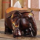 TOTO ornements d'éléphant chanceux créatifs décorations pour la maison pratique boîte de tissu de pompage artisanat mobilier en papier salon Meuble TV (29 * 18,8 * 18,8 cm)