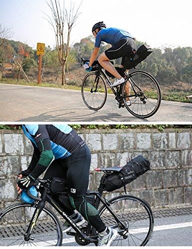 Fahrrad Tasche 8L/10L Praktisch Satteltasche Gepäckträger mit Roll-up Verschluss MTB Mountainbike 8L