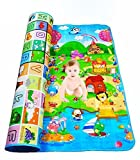 Hk Villa Double Sided Water Proof Baby Mat Carpet Baby Crawl Play Mat Kids Infant Crawling Play Mat Carpet Baby Gym Water Resistant Baby Play & Crawl Mat,Set of 1(Color and Design May Vary)