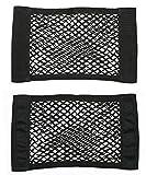 Yalulu 2Pcs Universal Schwarz Auto Lagerung Netz Taschen Beutel