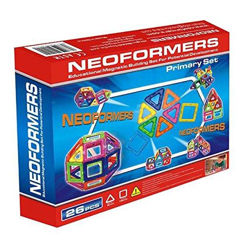 Blocs de construction magnétique de haute qualité de Neoformers - primaire Set - 26 pièces pour enfant à partir de 3 ans.