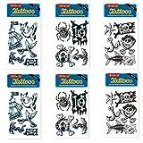 6-teiliges Tattoo-Set * KINDERPIRAT * vom Mauder-Verlag | Kinder Kindertattoo Kindergeburtstag Geburtstag Mitgebsel Piraten Totenkopf Schiff Anker