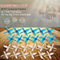 Goolsky 12 Pairs EMAX AVAN Micro 2 Inch 4-blade Transparent Propellers CW CCW for 1106 1104 Motor RC Racing Drone