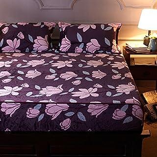 FHFGHYURBNYFGHFBY Bettlaken/Dickes bettdecke/Bett Sets/Winter/halten sie warm/Non-Slip matratze Cover-C 150x200cm(59x79inch)