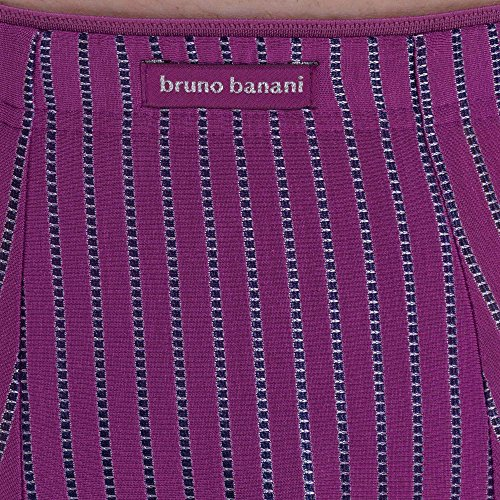 bruno banani Herren Shorts Hipshort Metamorphosis Violett (Zyklam Stripes 405)