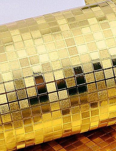 Art-deco-vinyl (fototapeten zeitgenössische Goldfolie Tapeten art deco 0.53M * 10m Wandverkleidung PVC / Vinyl-Wandkunst , golden)
