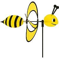 CIM Wind Spinner - Little Magic Bee - UV-resistant and weatherproof - wind wheel: Ø28cm, motif: 35x13cm, total height: 85cm - incl. fibreglass rod