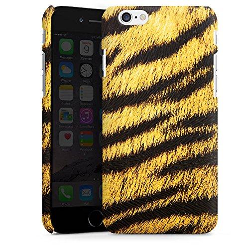 Apple iPhone 5s Housse Étui Protection Coque Animaux Aspect fourrure de tigre Motif Cas Premium mat