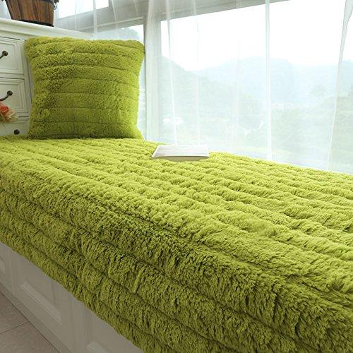 YU&AN Modern minimalistisch Plüsch Erker-Kissen,Fenster-fensterbank-Matte,Maschine Waschbar Tatami-matten Für Sofa Schlafzimmer Schaufel-D 90x160x1.5cm(35x63x1inch)