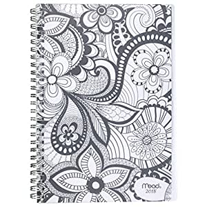 Mead Weekly/Monthly Planner, January 2018 - December 2018, 5-1/2 x 8-1/2, Zendoodle, Design Will Vary (CRW41710)