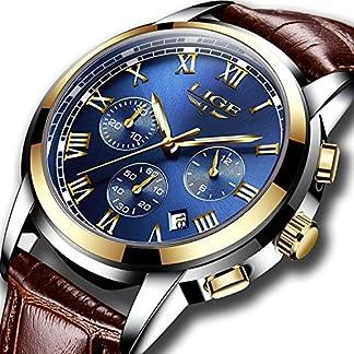 Uhr-Herren-Uhren-Mode-Quarzuhr-Wasserdicht-Herrenuhren-Business-Casual-Chronograph-Sportuhr-Lederarmband-Armbanduhr-mnner