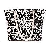 Wewod Gute qualität Canvas Shopper Damen Handtasche Einkaufstasche Schultertasche gross
