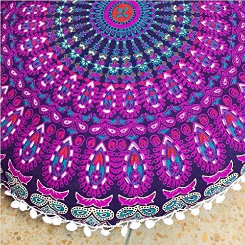 Zulistore Coussin de sol 100% coton 890mm de diamètre Non brodé Violet