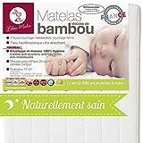 LILOU MIAKA - Matelas bébé Bambou Déhoussable - pour lit 60 x 120