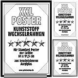 Goods & Gadgets Posterrahmen Wechselrahmen Bilderrahmen Kunststoff Wechsel-Rahmen für Maxi Poster & Plakate 61x91,5cm Schwarz