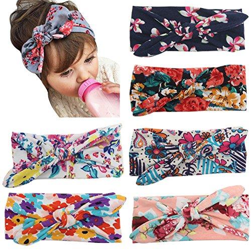 k Baby Mädchen Neueste Turban Stirnband Kopf Haarband (Mehrfarbig 1) (Stirnband Mädchen)
