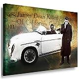 Julia-art Leinwandbilder - James Dean Porsche Bild 1 teilig - 70 mal 50 cm Leinwand auf Rahmen - sofort aufhängbar ! Wandbild XXL - Kunstdrucke QN.166-3
