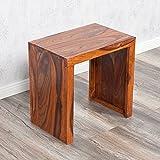 Beistelltisch NEST-L 45cm Farbe: Natural Akazie Blumenhocker Massiv Holz Tisch