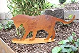Katze mit Maus, Edelrost Dekoartikel aus rostigen Metall