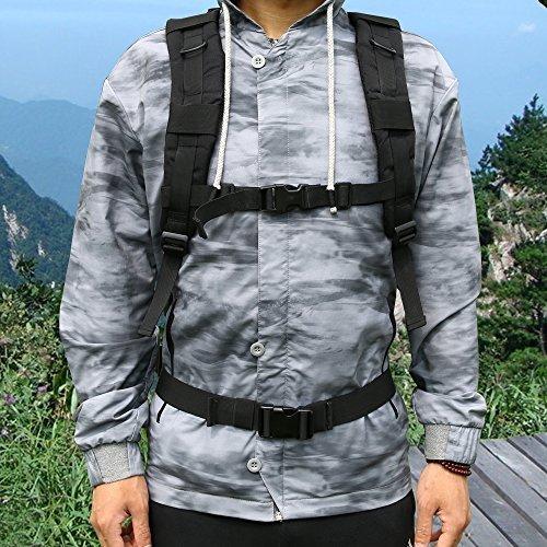 Imagen de ttlife  de senderismo 45 litros, táctica en varios colores, de asalto para excursionismo, montañismo, ciclismo, trekking ,  militar de alta calidad. negro  alternativa