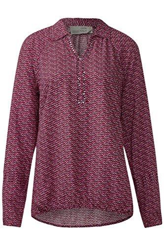 Cecil camicia da donna nel minimalprintdesign Rot (maroon red) M