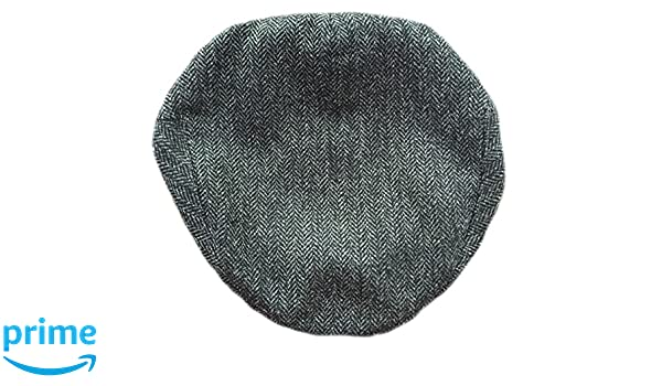 5d22b08d0e422 Lawrence   Foster Ltd Hand Tailored Tweed Garforth Flat Cap Ribble Grey  Herringbone British Made  Amazon.co.uk  Clothing