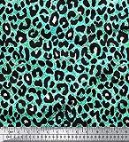 Soimoi Grun Baumwolle Batist Stoff Leopard Tierhaut Drucken Nahen Stoff 1 Meter 42 Zoll breit